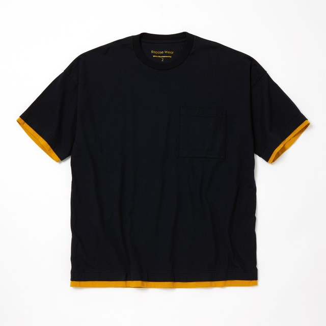 LAYERED WIDE T-SHIRT - BLACK