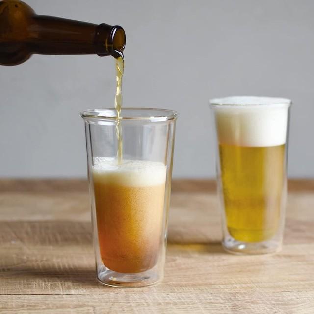 【KINTO】キントー ダブルウォール ビアグラス(ビアカップ/耐熱ガラス/容量:340ml)
