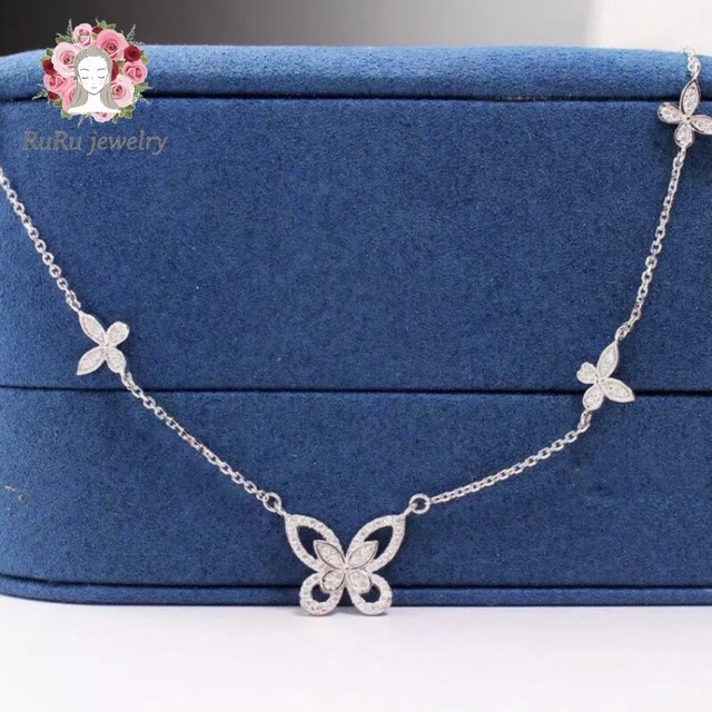 s925 butterfly papillon(necklace)