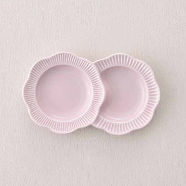 フラワー小分皿・ピンク