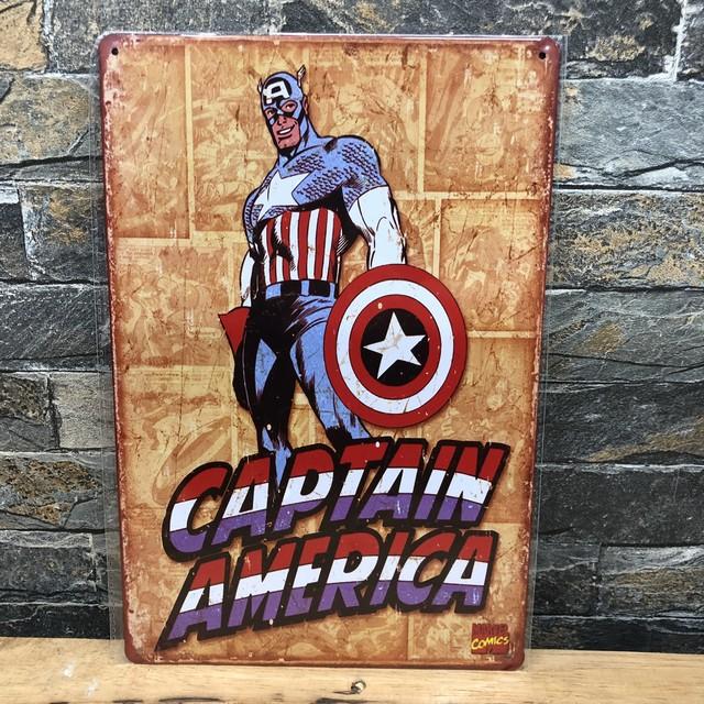 キャプテンアメリカ プレート アメリカン