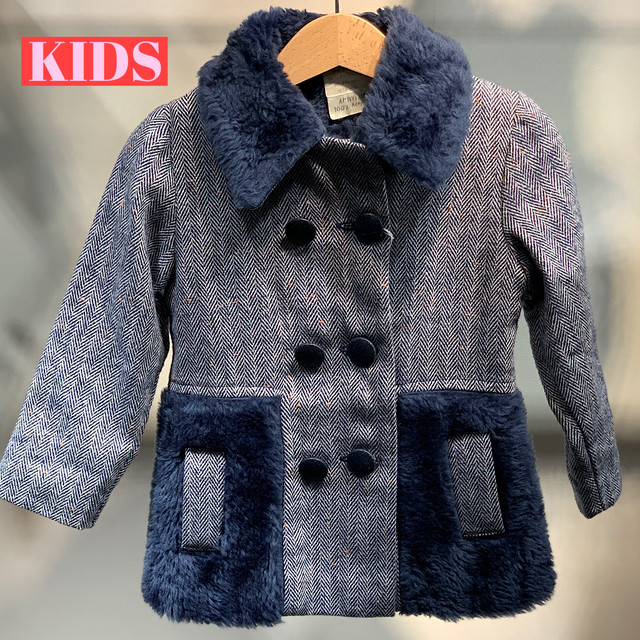 【3日間限定 TIME SALE】【KIDS】VINTAGE 70's wooly winter jacket with faux fur