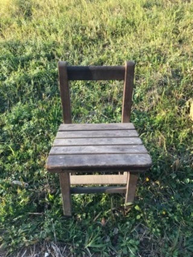 レトロ 木製椅子 a