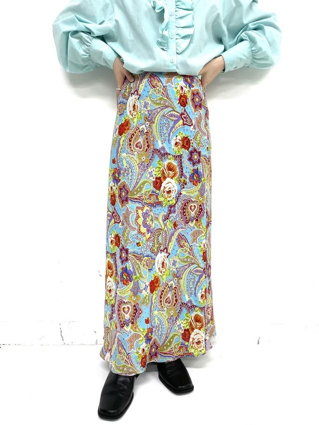 vintage paisley design skirt / 3SSSK02-16