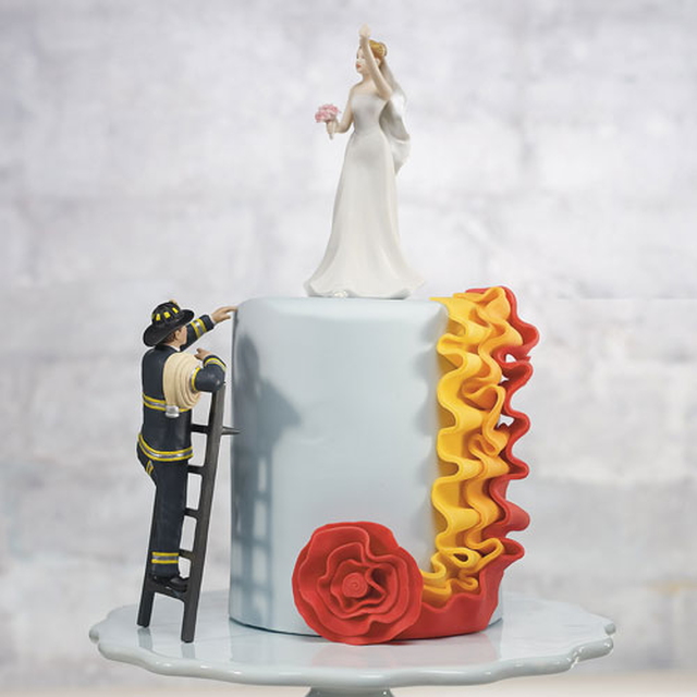 【お取り寄せ】ケーキトッパー【JOB編】★消防士★花嫁を救出せよ!(MJ9354/MJ7094)