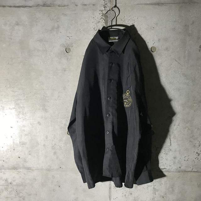 [used]black one  point  shirt