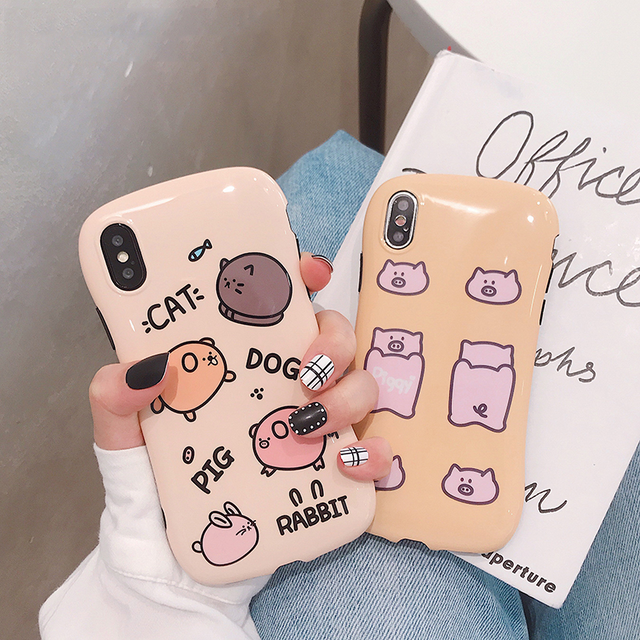 【オーダー商品】Simple pig animal iphone case