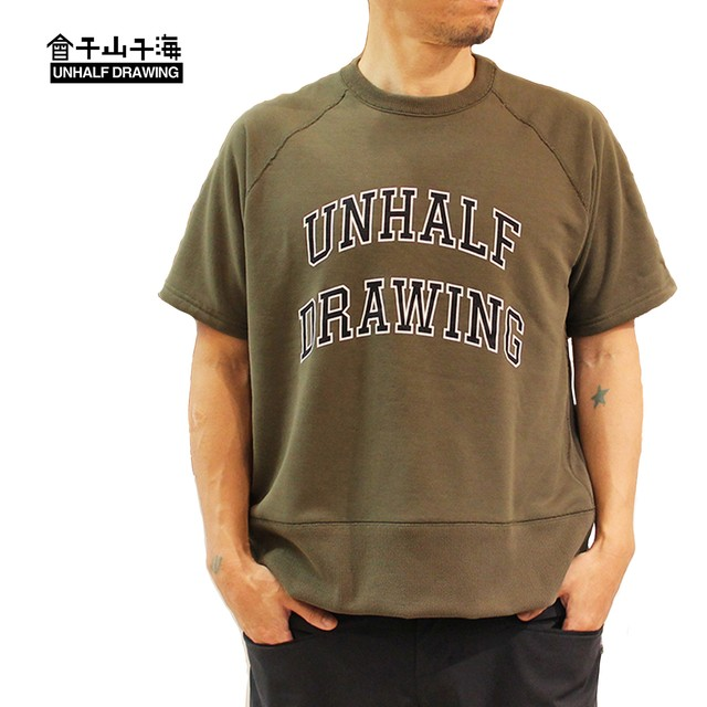 UNHALFDRAWING  Sweat Half Sleeve  Callege LOGO