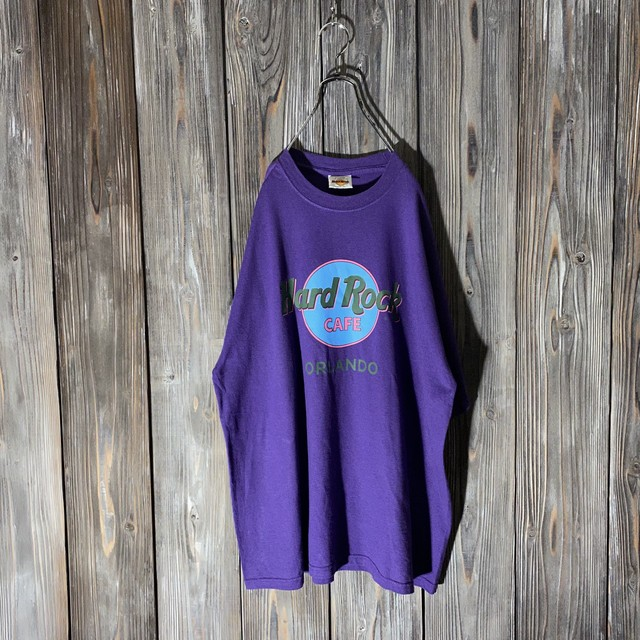 [Hard Rock Cafe]Orlando purple T shirt