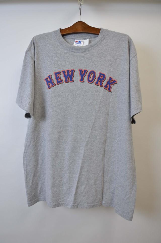 【XLサイズ】 MAJESTIC マジェスティック NEWYORK METS MARTINEZ 45 TEE ニューヨークメッツ マルティネス 半袖Tシャツ GRY 400601190734