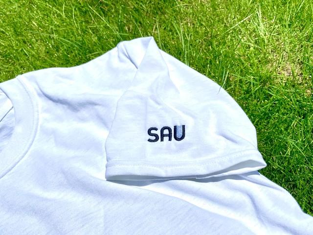 SAU logo 刺繍 Tシャツ