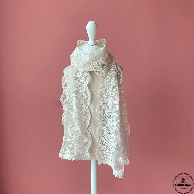 «sold out» lace scarf レーススカーフ