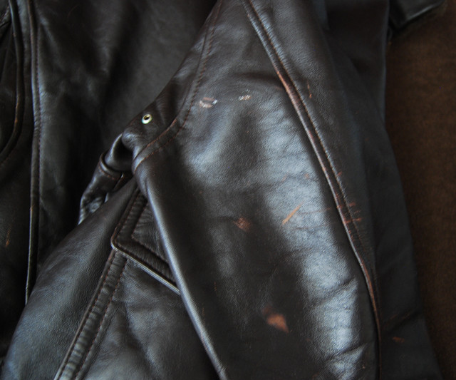 70s San Diego LEATHER JACKET FACTORY G-1 42