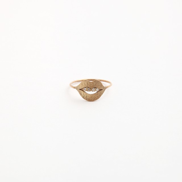 talkative/talkative mouth pinky ring