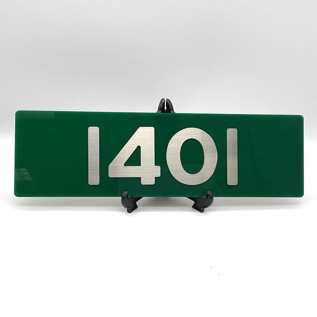 レリーフ 大阪電気軌道 1400系車番レプリカ 1401号車