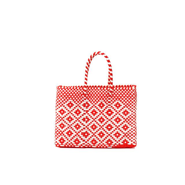 MERCADO BAG ROMBO  - Red × White(XXS)