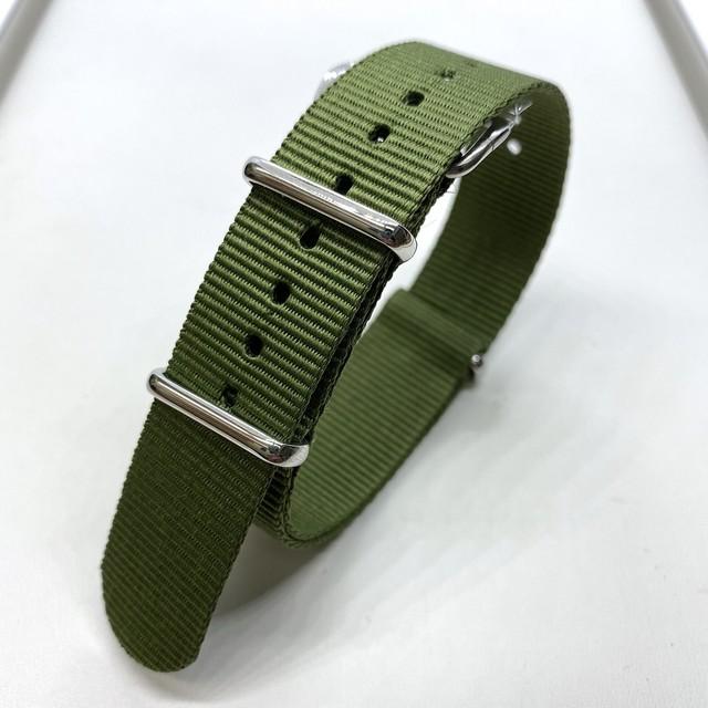NATOナイロンストラップ カーキ・グリーン 18/19/20mm 腕時計ベルト