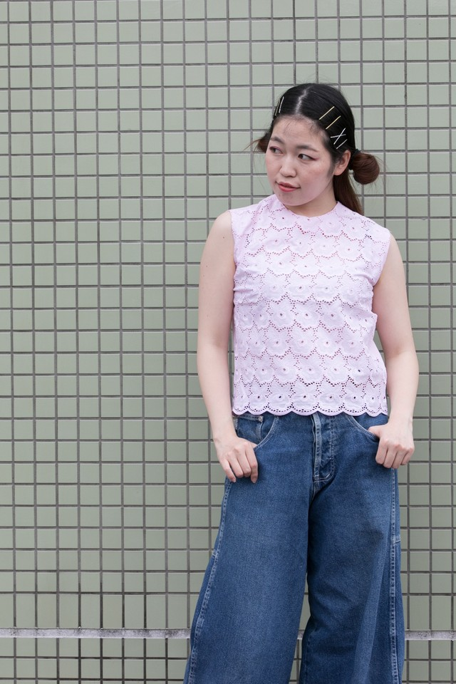 【Jabberwocky】1960's Embroidry Anglaise (T353)