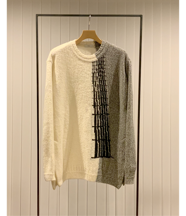 Intersia Jacquard Sweater / Off White