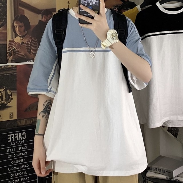 two-tone simple shirt PD2649