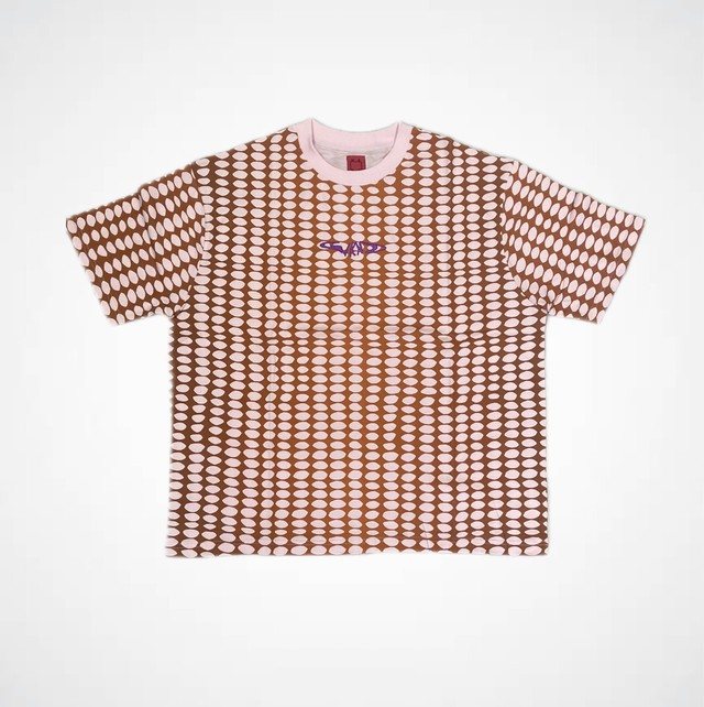 WKND SKATEBOARDS BUBBLE TEE PINK/BROWN