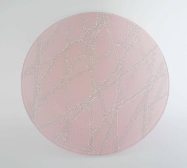 ガラストレー #82528MS ピンク(15cm丸皿)