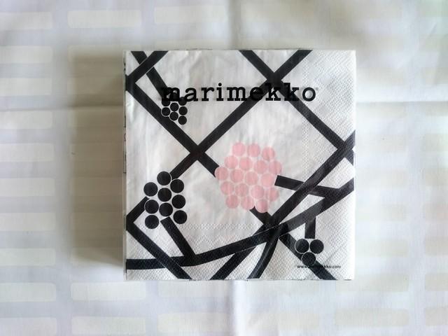 ペーパーナプキン / マリメッコ /  HORTENSIE ・ ピンク (33x33cm)