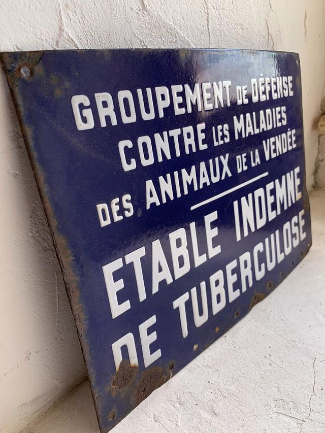 ホーロープレート la Vendée 看板 サイン