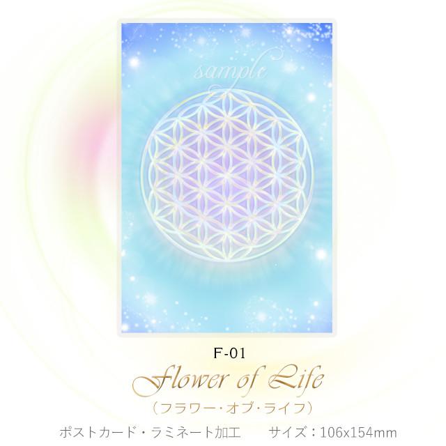 フラワーオブライフ (3枚で25%OFF)【神聖幾何学エネルギーカード】F-S3