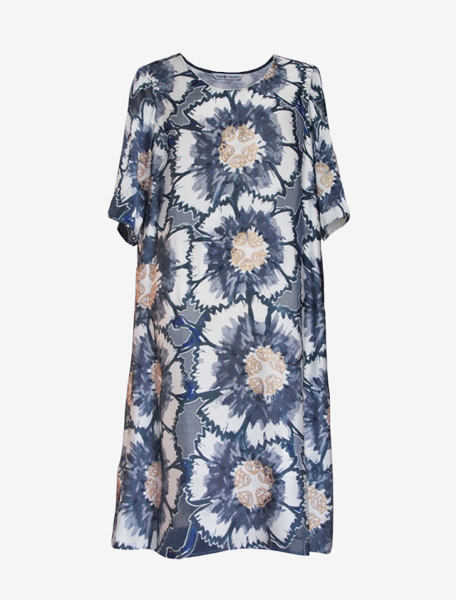 TSUMORI CHISATO BOTANICAL PRINTED DRESS