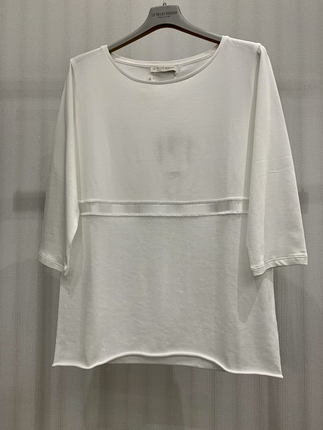 【LE TRICOT PERUGIA】ジャージ+ニットコンビネーショントップ (740-398)