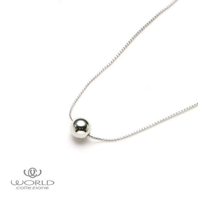 【worcolle】シルバーカラーのメタルボールネックレス(No.131246)