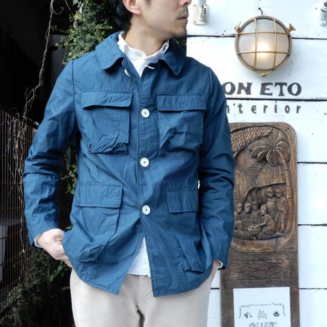 LOLO (ロロ) タイプライターカバーオールジャケット ブルー