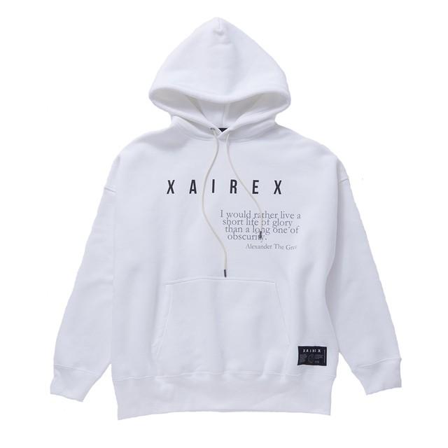 XAIREX LOGO HOODIE(WHITE)[XAI-0008]
