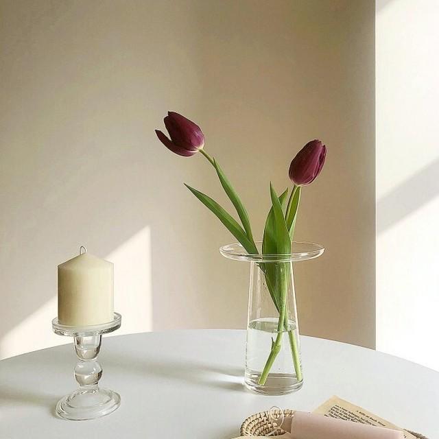 シンプルクリア花瓶 R1110