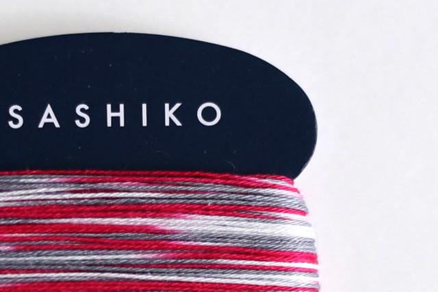 ダルマ刺し子糸<細> カード巻 3色かすり No.403 : SASHIKO Thin 3 colors kasuri No.403