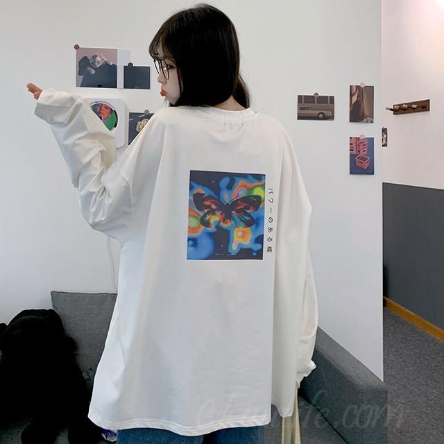 【トップス】韓国系ラウンドネックプリント動物柄プルオーバーTシャツ35758601