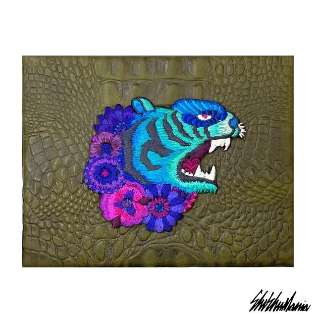 Yuta Okudaコラボ青虎刺繍パネル