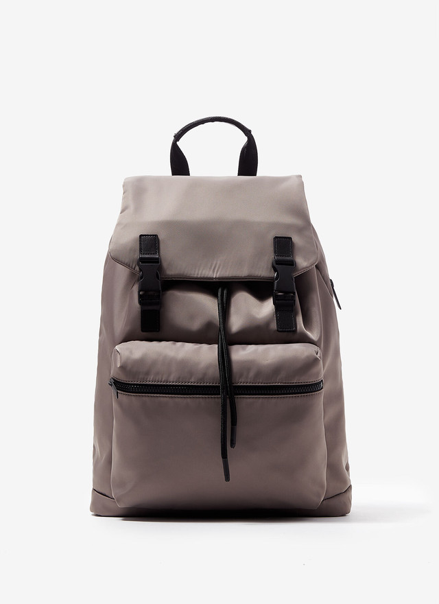 NYLON BACKPACK WITH FRONT POCKET
