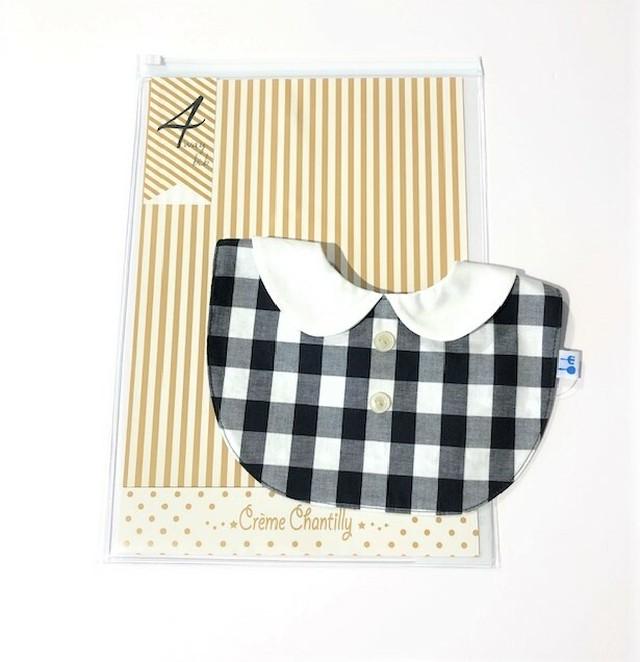 【再入荷】ふじや creme chantilly ( クリームシャンティー ) - 付け衿型 4WAY スタイ【black】【FREE】