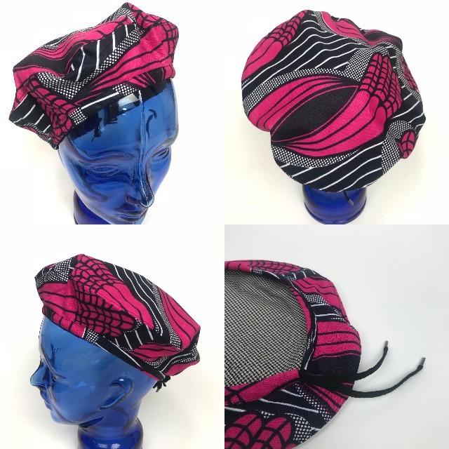 アフリカンプリントベレー帽 02