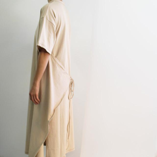 KHA:KI カーキ SIDE WRAP DRESS サイドラップドレス 巻きスカート付き Tシャツワンピース MIL-19SCS166