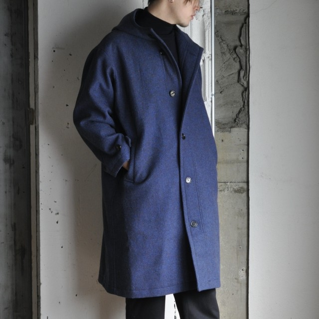 MOITAS Fooded coat -navy-