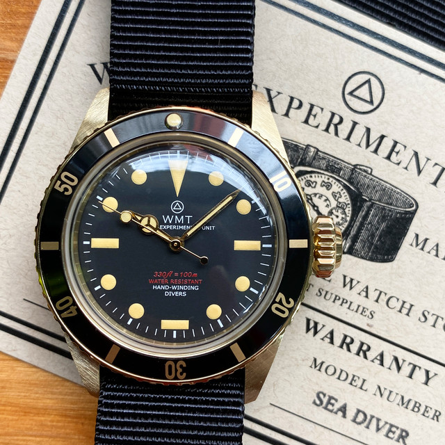 W.MT WATCH SEA DIVER YELLOW GOLD PVD Mat Black (OLD CASE) WMT1351-04