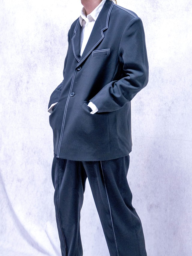 【MENS - 6 Size】STITCH TAILORED SETUP / Black