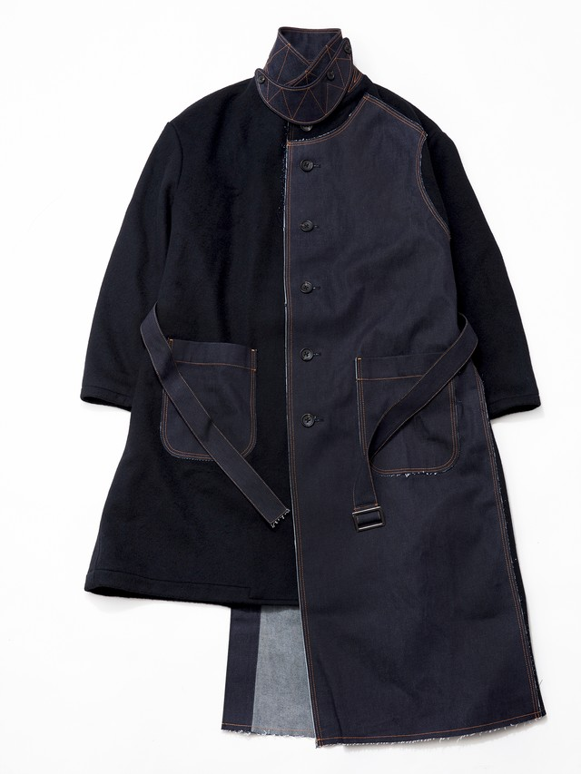KHOKI Fall Coat For BEST PACKING STORE Denim/Black 20aw-co-02-B