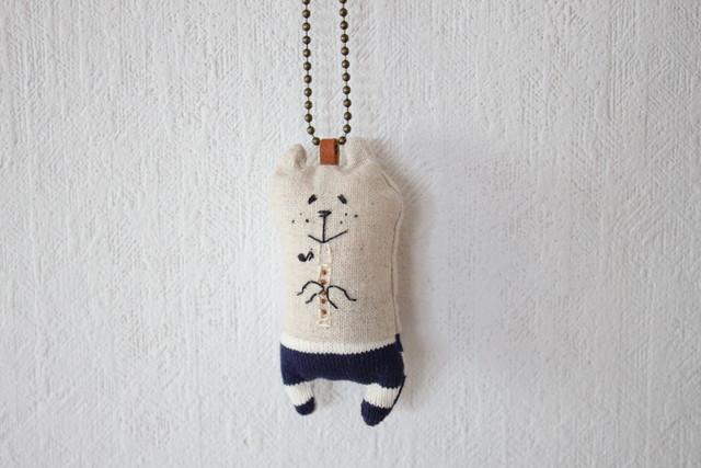 muuちゃん ドーナツ 手刺繍 ストラップ