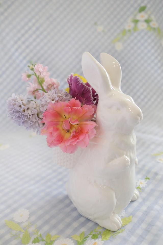 Garden Bunny バスケットフラワーベース L