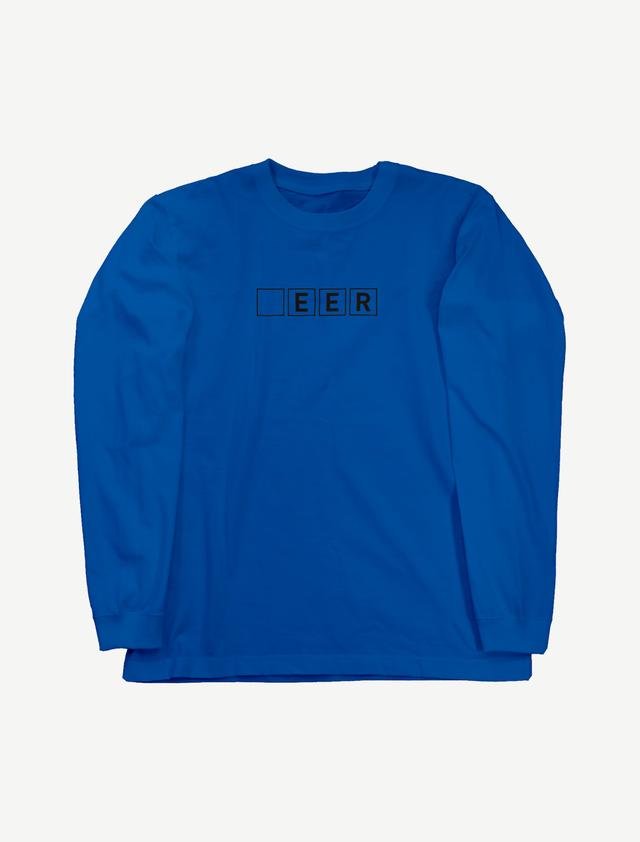 【□EER】ロングスリーブTシャツ(ロイヤルブルー)