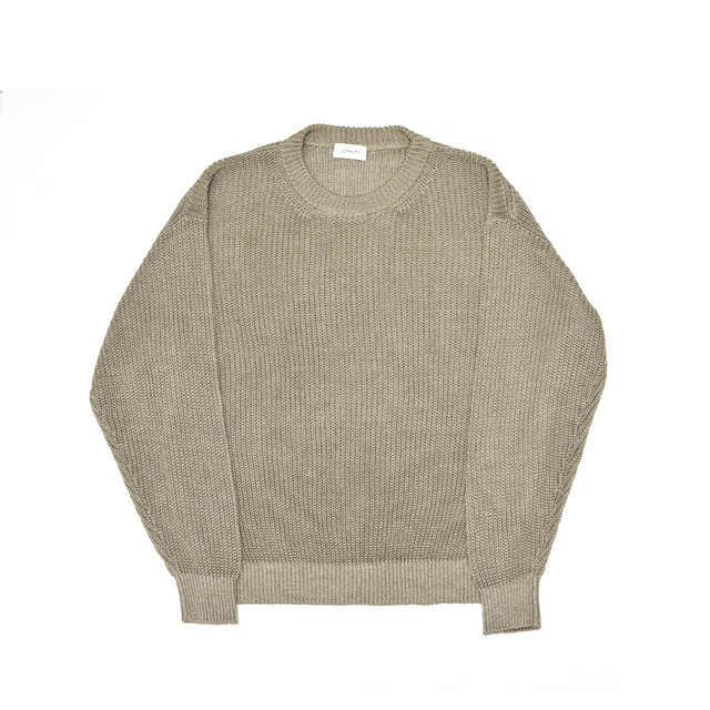 LEMAIRE Rib Sweater Beige M191-KN164